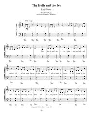 The Holly and the Ivy, Easy Piano