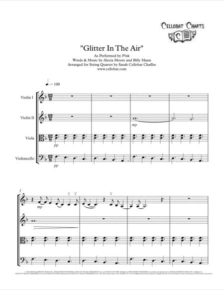 Glitter In The Air - String Quartet - P!nk arr. Cellobat - Recording Available!