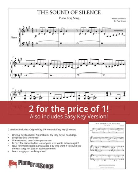 The Sound Of Silence (Simplified and Easy Key Piano Solos)