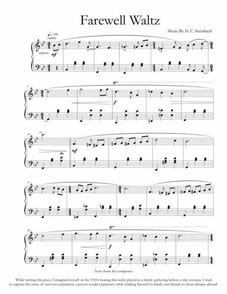 The Farewell Waltz (Solo Easy Piano)