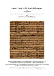 Sammartini - Concerto in E flat major CSSgb4 for Oboe and Piano