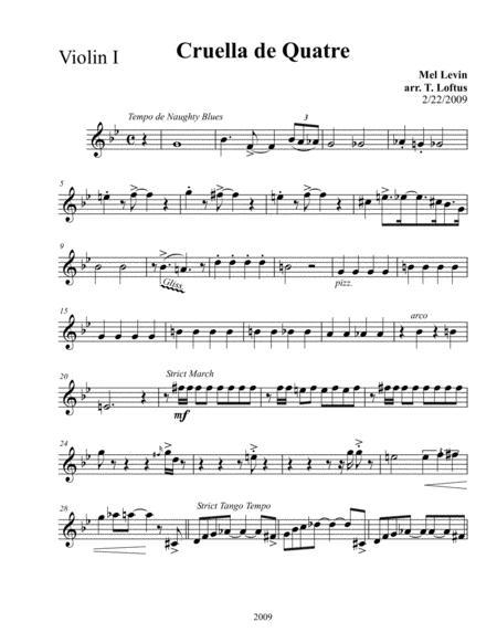 Cruella De Quatre for String Quartet (Variations on