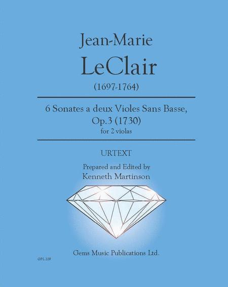 6 Sonates a 2 violes, Op. 3 no. 1-6