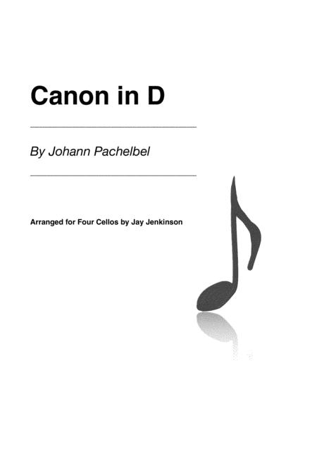 Pachelbel's Canon in D for Four Cellos