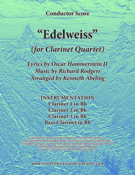 Edelweiss (for Clarinet Quartet)