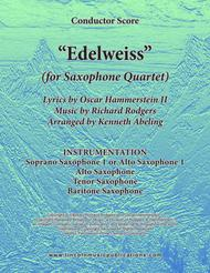 Edelweiss (for Saxophone Quartet SATB or AATB)