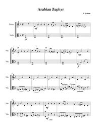 Arabian Zephyr - Violin/Viola duet