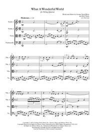 Louis Armstrong: What A Wonderful World - String Quartet