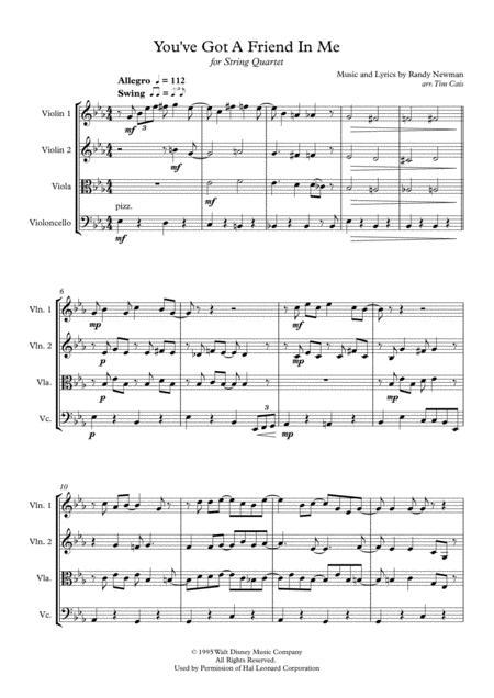 Randy Newman: You've Got A Friend In Me - String Quartet
