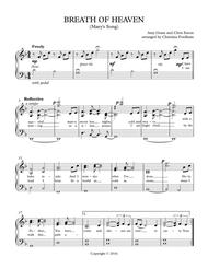Breath Of Heaven (Mary's Song) (Easy Piano)