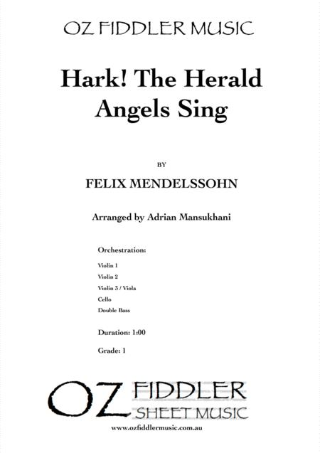 Hark! The Herald Angels Sing, by Felix Mendelssohn, arranged for String Orchestra