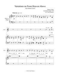 From Heaven Above to Earth I Come (SATB)