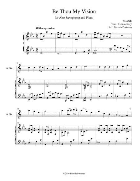 Be Thou My Vision (alto sax/piano), arr. Brenda Portman