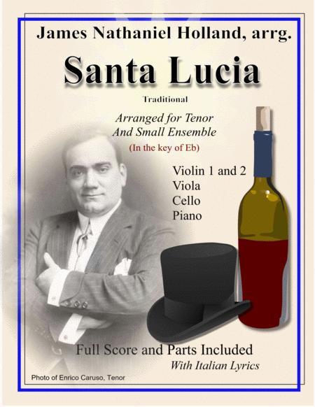 Santa Lucia for Tenor and Small Ensemble Eb