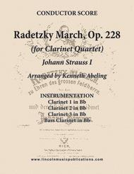 Radetzky March (for Clarinet Quartet)