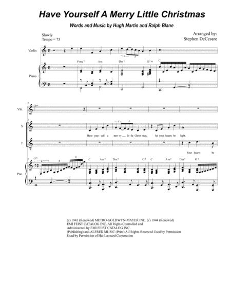 Have Yourself A Merry Little Christmas (Duet for Soprano and Tenor Solo)