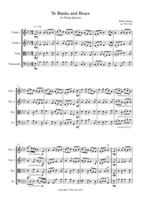 Ye Banks and Braes - String Quartet