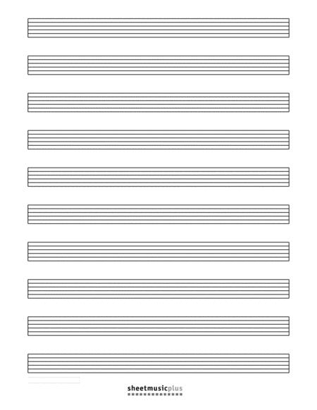 10-Staff Guitar Tab (Blank)