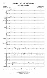 For All That You Have Done - Full Score