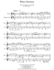 White Christmas (Violin and Clarinet)