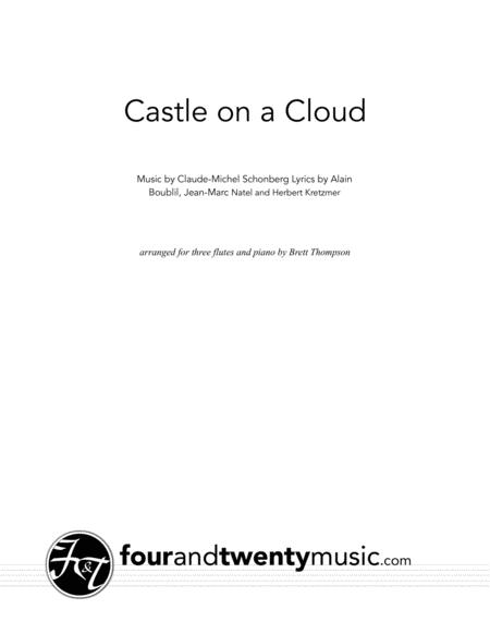Castle On A Cloud, arranged for three flutes and piano