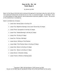 Easy As Do - Re - Mi, Book 2, Violin