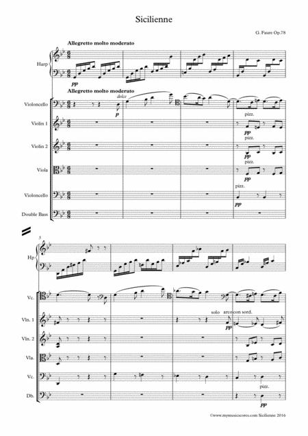 Sicilienne for Cello and String Orchestra Op.78