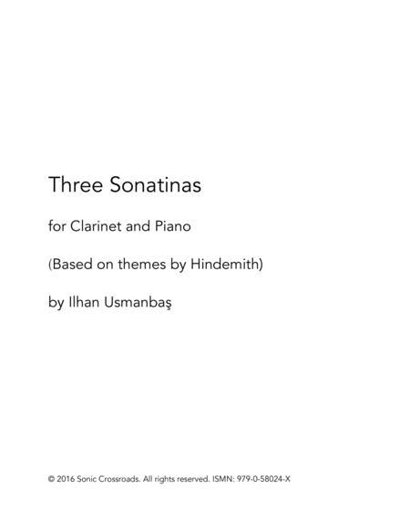Three Sonatinas for clarinet and piano
