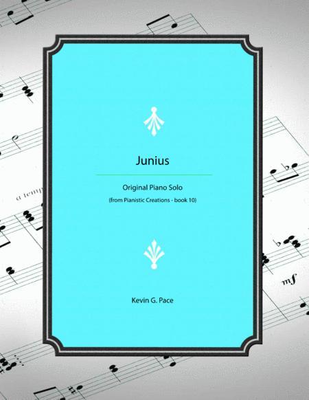 Junius - original piano solo for moderate level pianist.