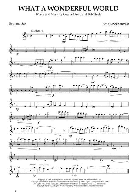 What A Wonderful World for Saxophone Quartet