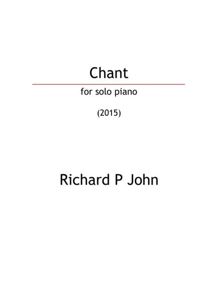 Chant (for solo piano_