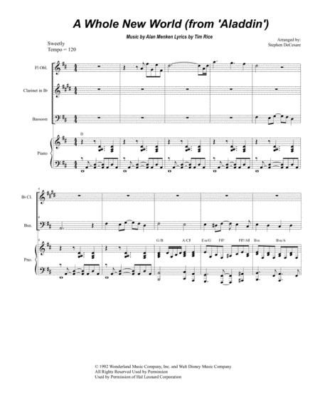 A Whole New World (for Woodwind Quintet)