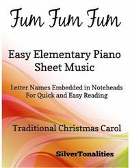 Fum Fum Fum Easy Elementary Piano Sheet Music