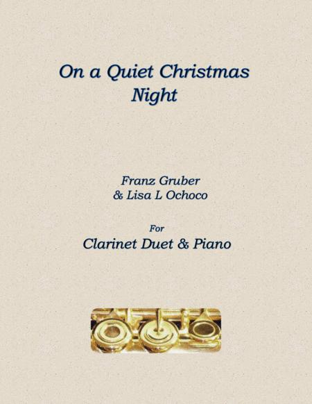 On a Quiet Christmas Night for Clarinet Duet and piano