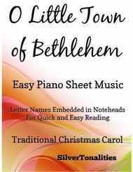 O Little Town of Bethlehem Easy Piano Sheet Music