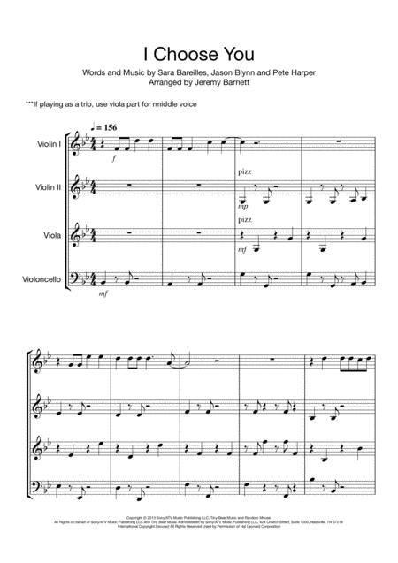 I Choose You (String Quartet/Trio)