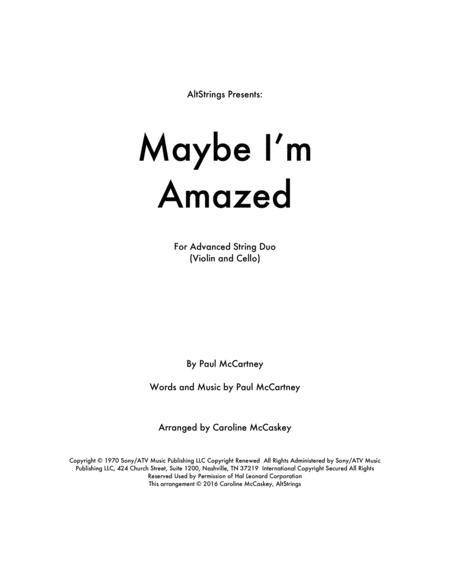 Maybe I'm Amazed - Violin and Cello Duet