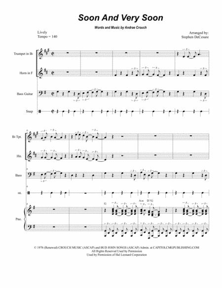 Soon And Very Soon (Duet for Bb-Trumpet and French Horn)