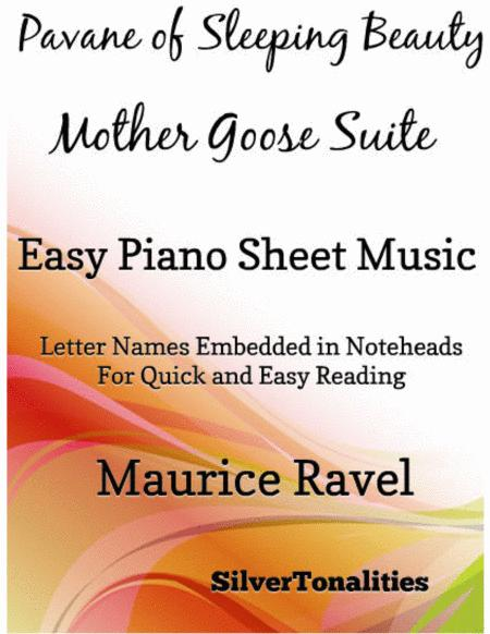 Pavane of Sleeping Beauty Mother Goose Suite Easy Piano Sheet Music