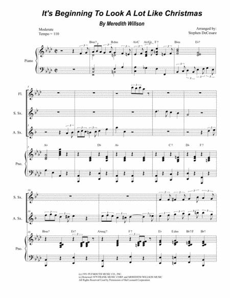 It's Beginning To Look Like Christmas (Duet for Soprano and Alto Saxophone)