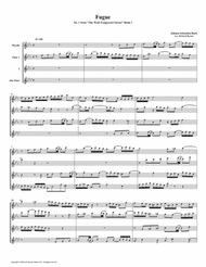 Fugue 01 from Well-Tempered Clavier, Book 1 (Flute Quartet)