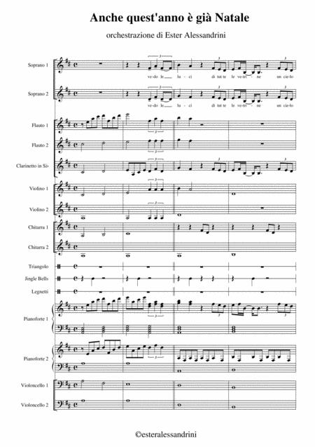 Anche Quest Anno E Gia Natale.Anche Quest 039 Anno E Gia Natale By Anonimo Digital Sheet Music For Individual Part Score Set Of Parts Download Print S0 154705 Sheet Music Plus