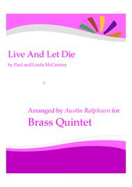 Live And Let Die - brass quintet