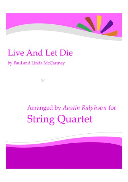 Live And Let Die - string quartet