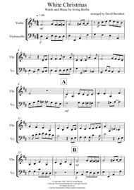 White Christmas for Violin and Cello Duet
