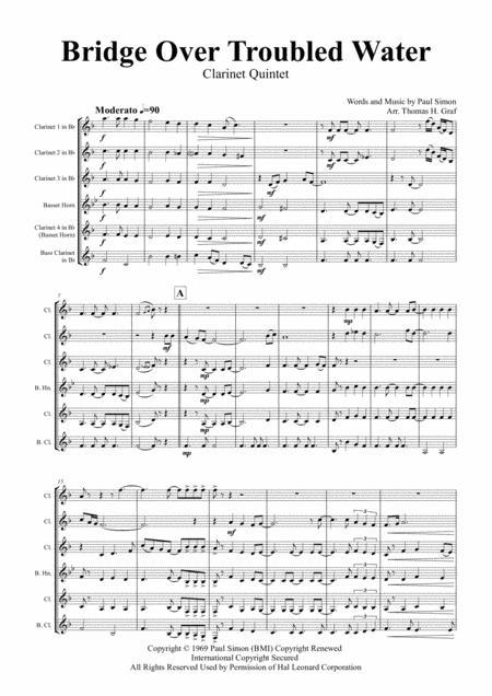 Bridge Over Troubled Water - Simon&Garfunkel - Clarinet Quintet
