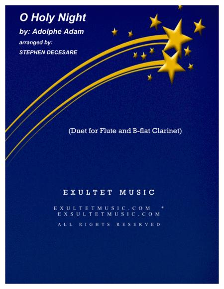 O Holy Night (Duet for Flute and Bb-Clarinet)