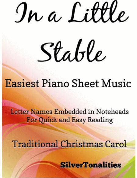 In a Little Stable Easiest Piano Sheet Music