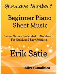 Gnoissienne Number 1 Beginner Piano Sheet Music