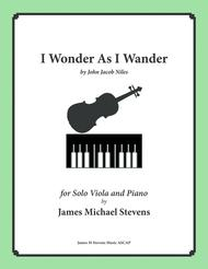 I Wonder As I Wander (Viola & Piano)